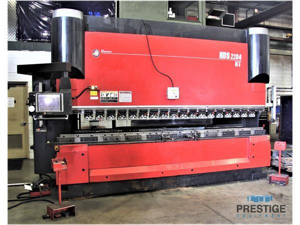 Amada HDS-2204 NT 242 Ton x 14' 8-Axis Servo Hydraulic Hybrid CNC Press