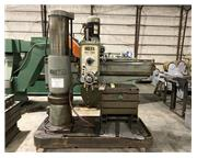 "4' x 13"" Ooya RE2-1300 Radial Arm Drill, Power Clamp & Elevat"