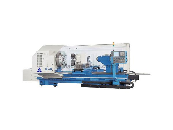 "59""X240"" ACRA MODEL CL-78A HOLLOW SPINDLE CNC FLAT BED LATHE WITH FANUC OITD CONTROLLER"