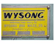 "1/4"" x 10' Wysong # 1025 , mechanical double end frame power shear, 16 holddowns, 55"