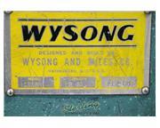 "12 gauge x 4' Wysong # 1252 , power shear, 8 holddowns, 80 SPM, 48"" rear operated man"