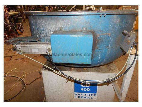 USED WALTHER TROWAL MODEL CD 400 8.83 CU. FT. VIBRATORY BOWL, Stock # 10808