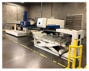 "1999 Trumpf TC500R CNC Punch, 50"" x 100"" Travels, 19 Rail Mounted Stations, Auto"