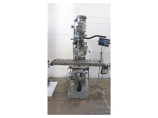 "48"" Table 2HP Spindle Bridgeport SERIES I VERTICAL MILL, Vari-Speed, R-8, Acu-Rite DRO,Pwr feed, Chrome"
