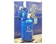 17 cfm, 14 psi, Quincy # QT5-580H , reciprocating vertical air compressor, 5 HP, 2 stage,