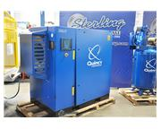 320 cfm, 125 psi, Quincy # QGS-75 , rotary screw air compressor, 75 HP, air cooled, Air Lo