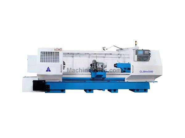 "26""X 160"" ACRA MODEL CL-38A HOLLOW SPINDLE CNC FLAT BED LATHE WITH FANUC OITD CO"