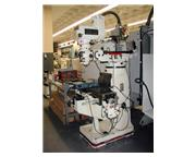 """49"""" Table 3HP Spindle Jet JTM-4VS VERTICAL MILL, Vari-Speed, R8, Acurite DRO, Pwr Tbl"""