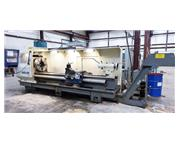 """3119, Weiler, E70x3000, CNC Hollow Spindle Flat Bed Lathe, 9.5"""" Spindl"""