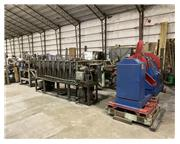 8-Stand Hat & Z-Channel Rollforming Line, Decoiler & Cutoff Press