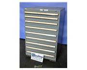 "Stanley Vidmar cabinet, 2- 2"" drawers, 7- 3"" drawers, #A2702"