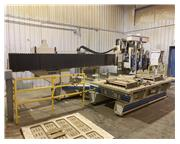 1992 Komo Twin Table, 4-Head CNC Router w/ GE Franuc Series O-M Controller