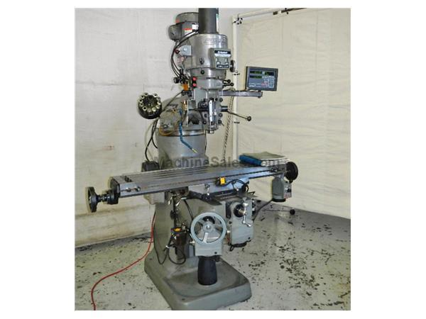 "48"" Table 2HP Spindle Bridgeport SERIES I VERTICAL MILL, Vari-Speed, Newall DRO, 3 Servo Pwr Feeds, Chrome,"
