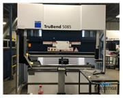 "Trumpf 95 Ton x 87"" TruBend 5085 8-Axis CNC Hydraulic Press Brake"