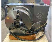 """8"""" HAAS HRT-450 4TH AXIS ROTARY TABLE INDEXER, 18"""" 3-Jaw Chk, 17."""