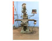 """48"""" Table 2HP Spindle Bridgeport Series I VERTICAL MILL, VariSpeed,Chrome, AcuRite DR"""