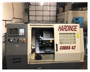 "HARDINGE COBRA 42 , 21"" SWING, GE FANUC 21-TB 32 BIT CNC CNTRL NEW: 19"