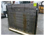 """Machined Angle Plate - 5' 10"""" w x 5' Ht. Face, Base 37"""" x 70"""" Wide - Drille"""