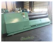 """96"""" x 1/2"""" Roundo #PASS-255, heavy duty 4-roll, CNC control on Pedestal, hydraul"""