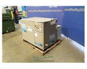 Leroi #CL30, rotary screw air compressor, 125 psi, 200 V., 30 HP, 8304 hours, sound enclos