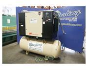 125 cfm, 150 psig, Ingersoll-Rand #SSR-UP6-30-150, 30 HP, sound enclosure & air tank, 120