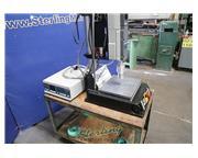 Branson #900MA, ultrasonic welder, 900 watt, drilled & tapped table plate, dual palm Contr