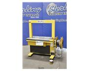 """Sivaron #SS-80, strapping machine, 24"""" x 34"""", foot pedal, used, #A3347"""