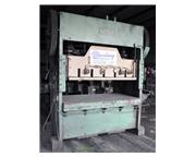 """150 Ton, Chicago, straight side double crank punch press, 84"""" x 48"""" bed, air clu"""