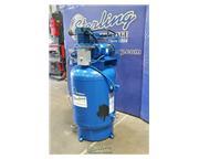22.6 cfm, 175 psi, Quincy #QT-7.5, 7.5 HP, vertical air compressor w/tank, #A6244
