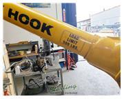 sky hook portable steel crane lifting de, Grizzly #8557, 500 lb., 4 swivel casters, fixed