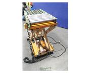 1000 lb. Roll-Lift #T1-1, Platform powered scissor lift, hand-controlled, roller ball tabl