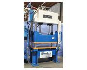 60 Ton, Savage #60HTP, 4-post hyd.blanking trim press, light curtains, PLC, 1992, #A2756