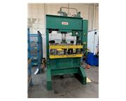 """75 Ton, Dake #908-18, H-frame hydraulic press, 17"""" stroke, 18"""" DL, 1"""" close"""