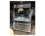 75 Ton, Dake #5-264 Elec-Draulic H-frame press, double acting presshead, variable speed, p