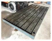 """72"""" x 144"""" x 6"""" Fabricated surface plate/layout table, (7) 1"""" T-slots,"""