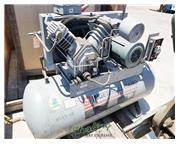 35 cfm, 175 psi, Ingersoll-Rand #2540E10, horizontal air compressor, 10 HP, 120 gallon tan