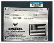 3000 cfm Farr #G-S-4 Gold Series, dust mist collector, reverse pneumatic pulse clean, 4 ca
