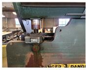 """90 Ton, Chicago #1012L, mechanical press brake, 12' overall, 126"""" between housing, 3&"""