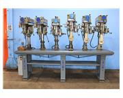 6 Spindles Clausing 2286 MULTI-SPINDLE DRILL, Vari-Speed, #3 MT, Pwr Down Fd,3 Procunier T