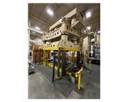"1500 Ton, Baldwin, 4-post hydraulic press, 55"" stroke, 65"" open height, dual pal"