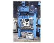75 Ton, Dake #75H, sliding ram electric/ hydraulic H-Frame press, start/stop push buttons,