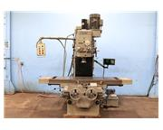 """67"""" Table 15HP Spindle Sharp KMA-1 VERTICAL MILL, Geared Head, #50 PDB, Sony DRO, Bed"""