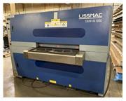 """Lissmac #SBM-B-1000-B2-60, 40"""" 2-sided plasma/laser slag rmoval brush deburrer, 2014"""